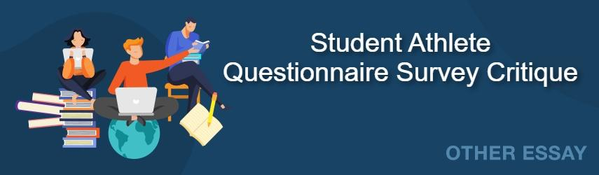 Analysis of Student Athlete Questionnaire