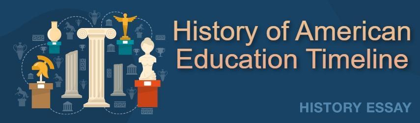History of American Education Timeline | EssaysWorld.net