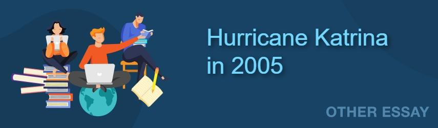Hurricane Katrina in 2005 | EssaysWorld.net