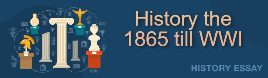 Essay Sample on History the 1865 till WWI |