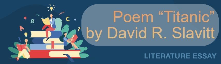 "Slavitt's Poem ""Titanic"""