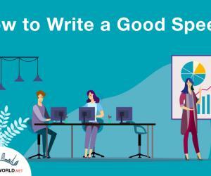How to Write a Good Speech